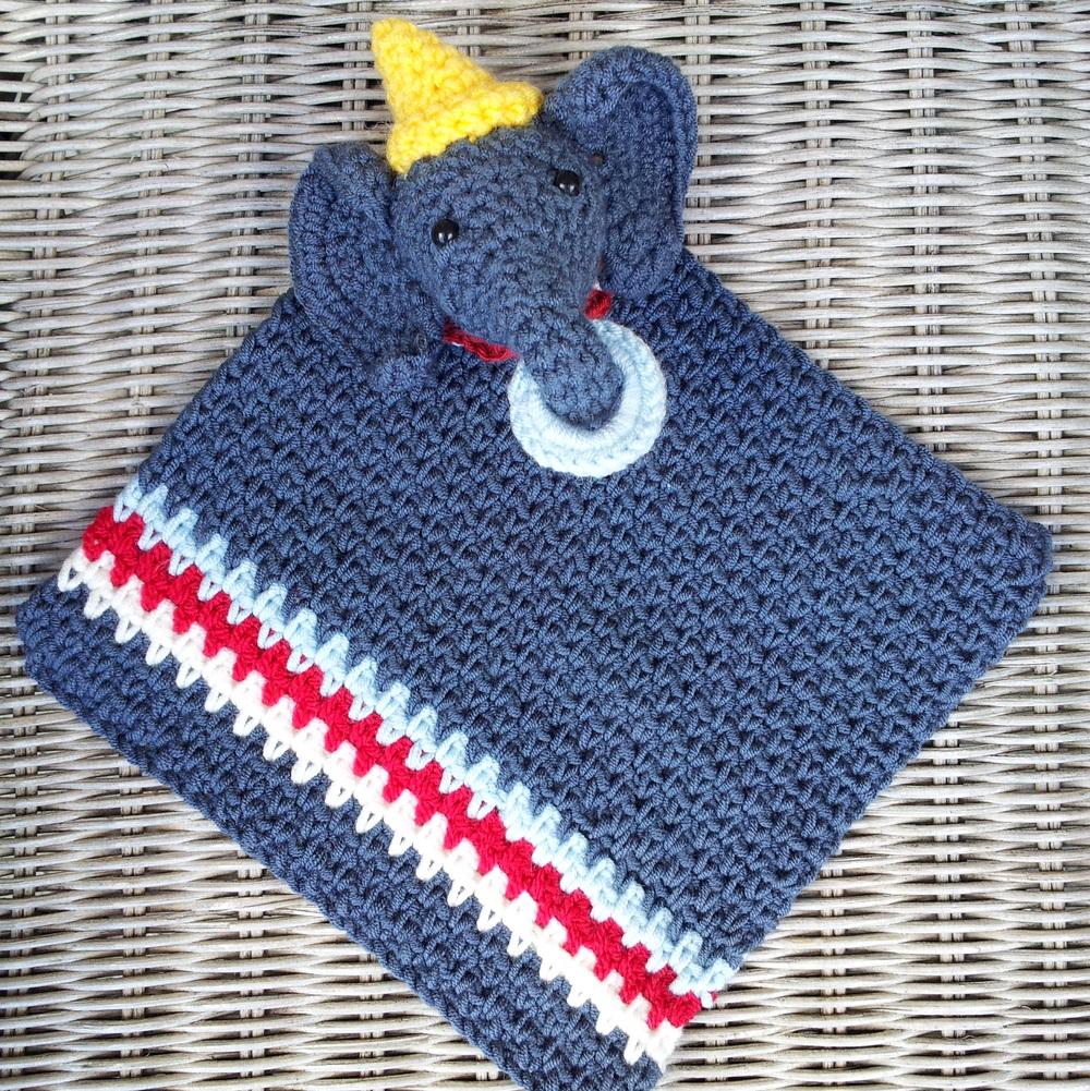 Free Crochet Pattern Elephant Lovey : Circus Elephant Crochet Lovey ...