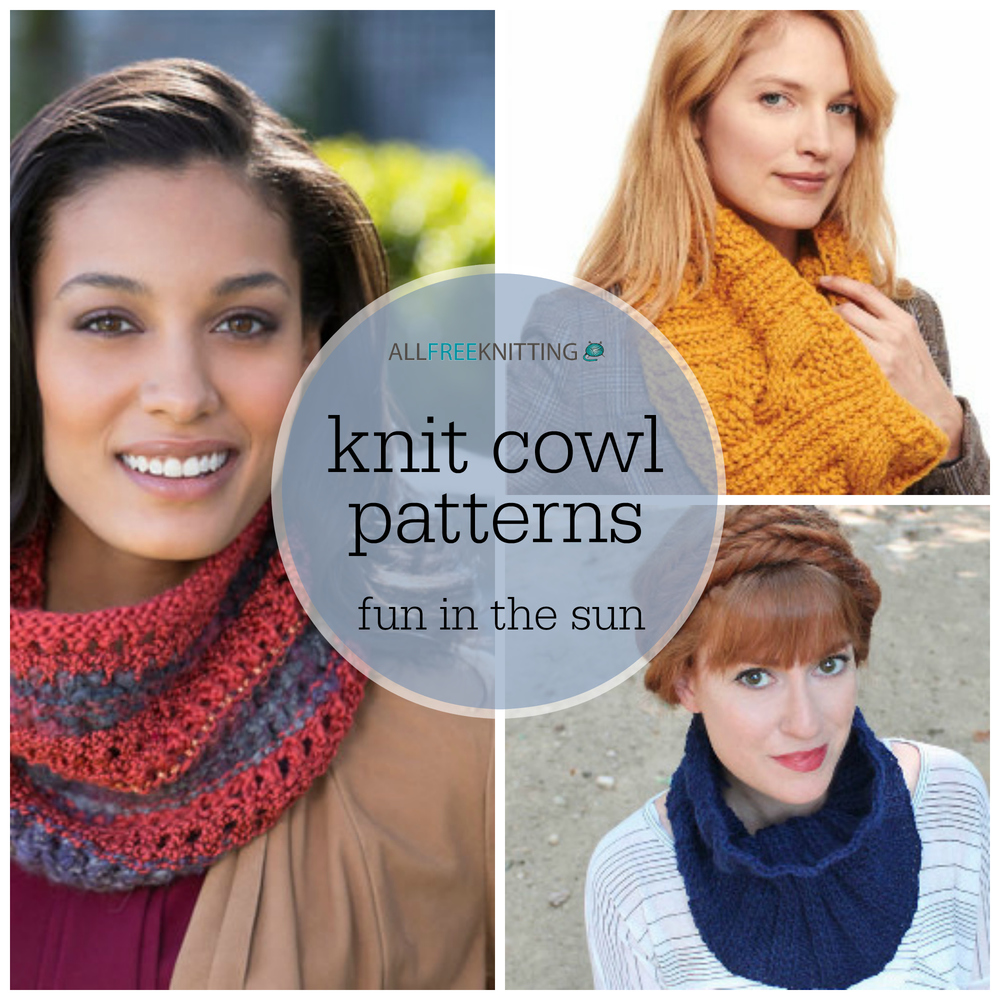 20 Knit Cowl Patterns: Fun in the Sun | AllFreeKnitting.com