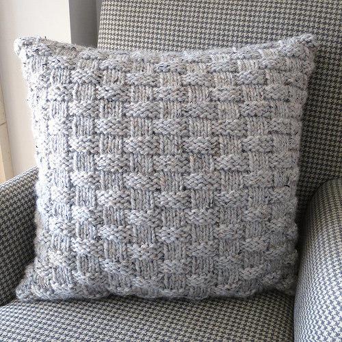 Basket Weave Pillow Allfreeknitting