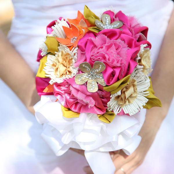 Bridal Bouquet Materials : Diy fabric wedding bouquet allfreediyweddings