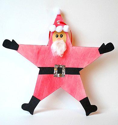 Santa Star Christmas Ornament Allfreekidscrafts Com
