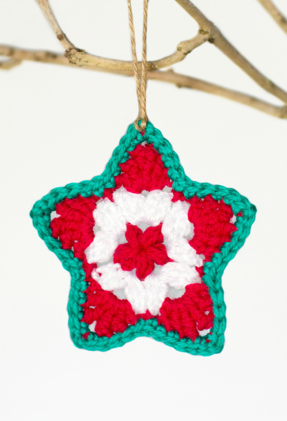 free christmas crafts ideas crocheted ornament 4505