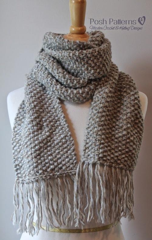 Knit Scarf Pattern Long Skinny Lace Knitted Scarf Pattern