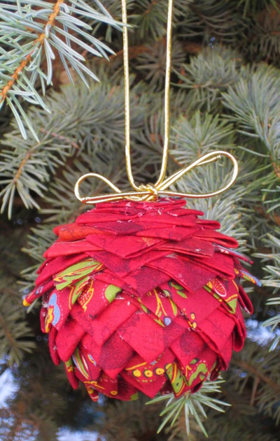 Prairie Point Pinecone Ornament Allfreesewing Com