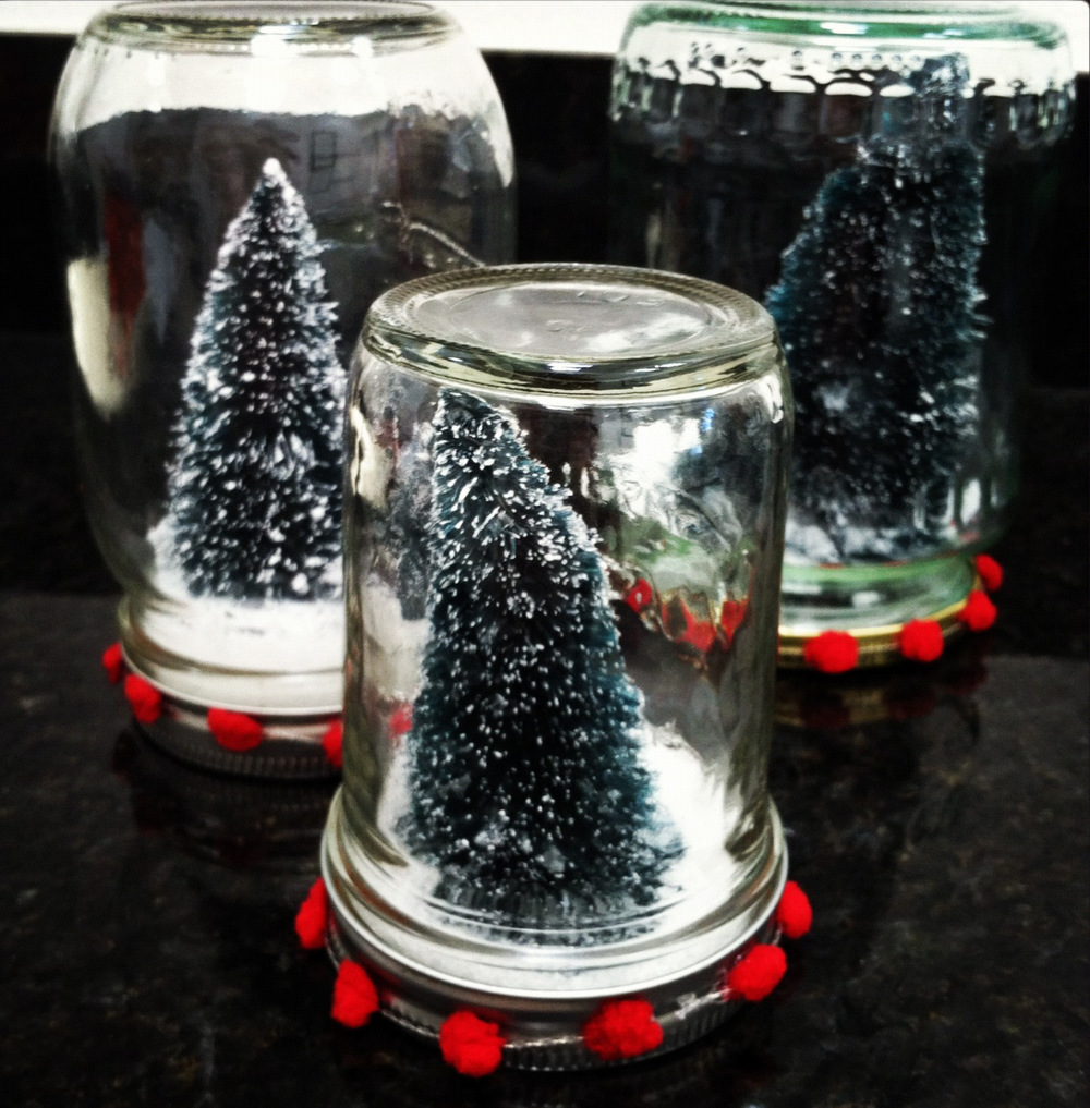 Mason jar snow globes for Jar crafts