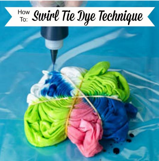 Swirl tie dye technique - Technique tie and dye ...