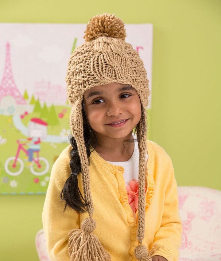 Cabled Toddler Hat Knitting Pattern | AllFreeKnitting.com