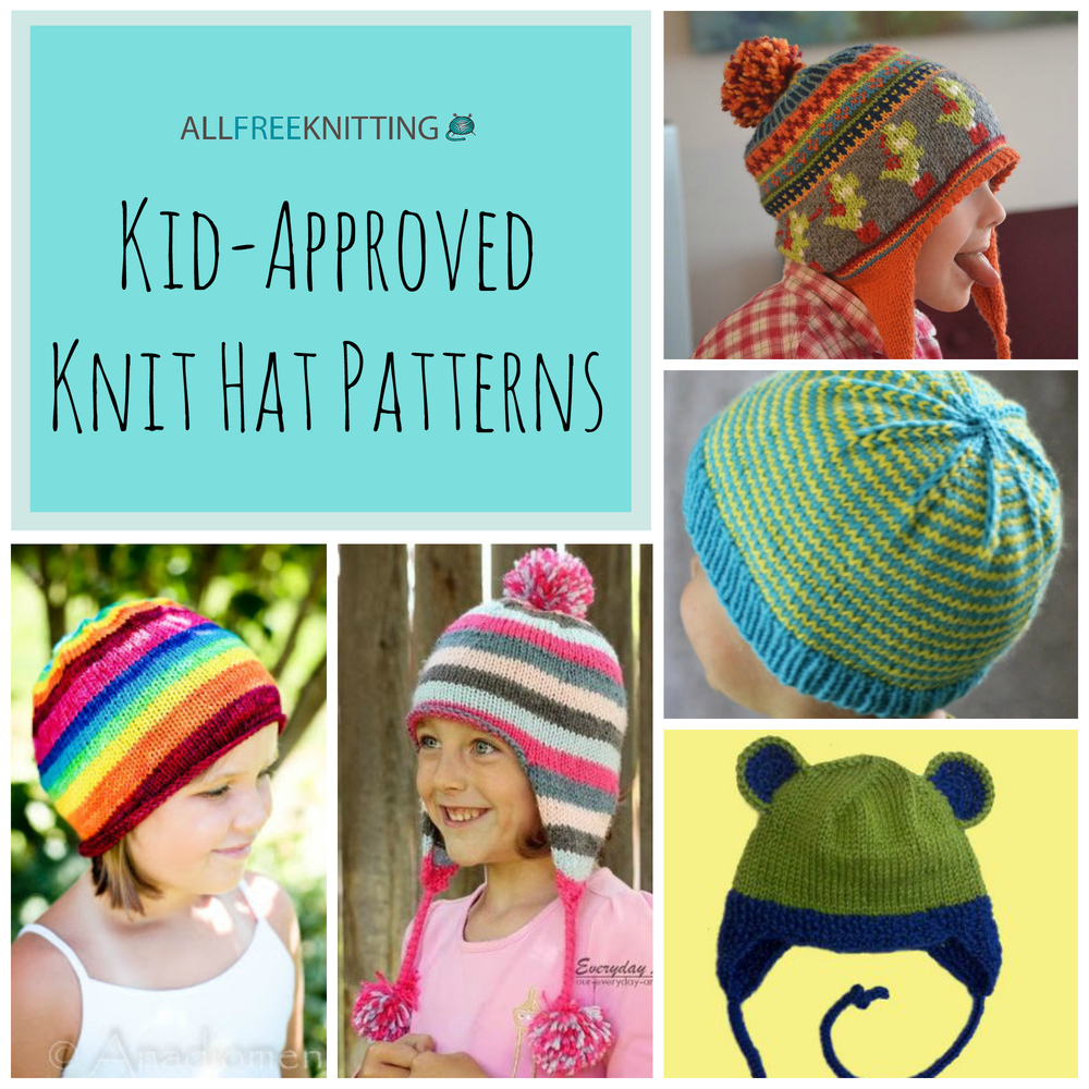 26 kid approved knit hat patterns allfreeknitting bankloansurffo Choice Image