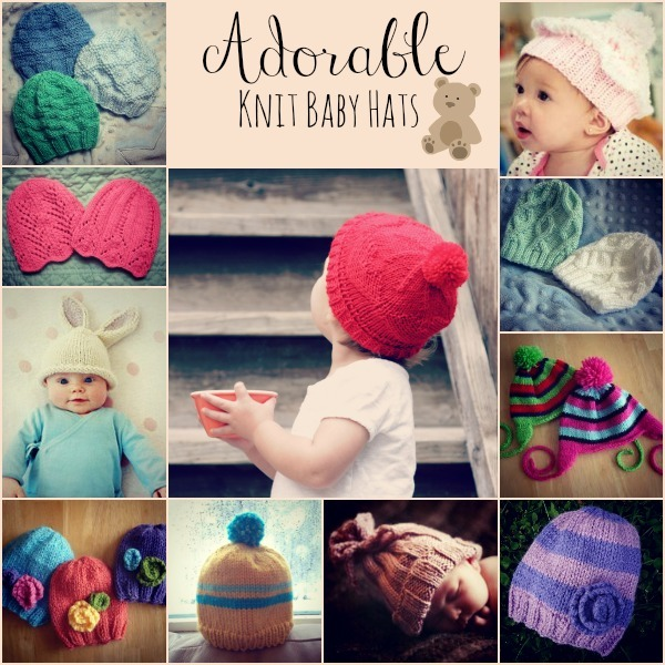Knitting Slippers For Charity : Adorable knit baby hats allfreeknitting