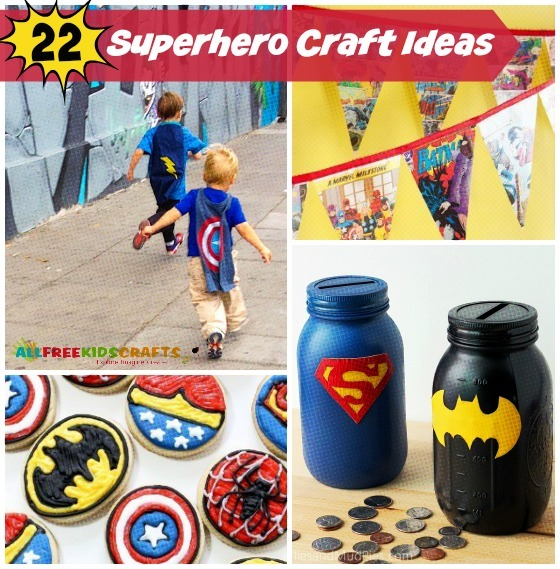 superhero party craft ideas 24 craft ideas for allfreekidscrafts 5529