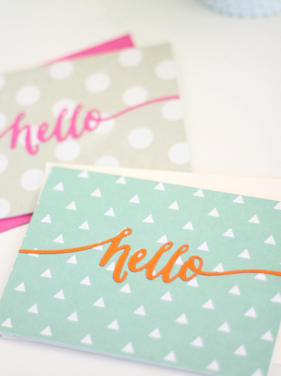 Bright Hello Greeting Cards
