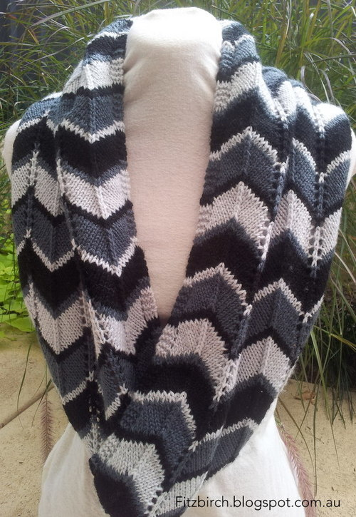 Chevron Delight Infinity Scarf AllFreeKnitting Awesome Chevron Scarf Knitting Pattern