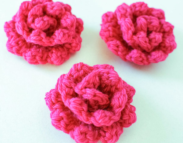 Large Crochet Rose Pattern Free : Embellishing Rose Pattern AllFreeCrochet.com