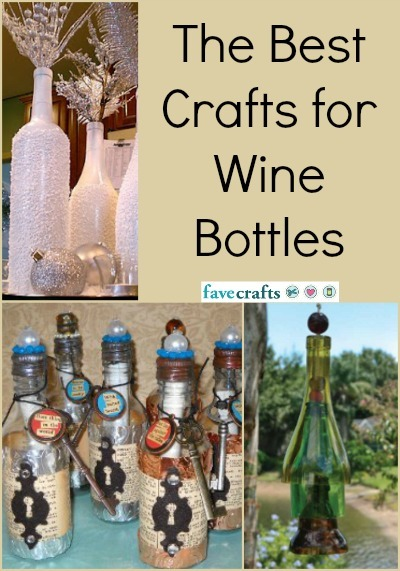 20 crafts for wine bottles for How to make wine bottle crafts
