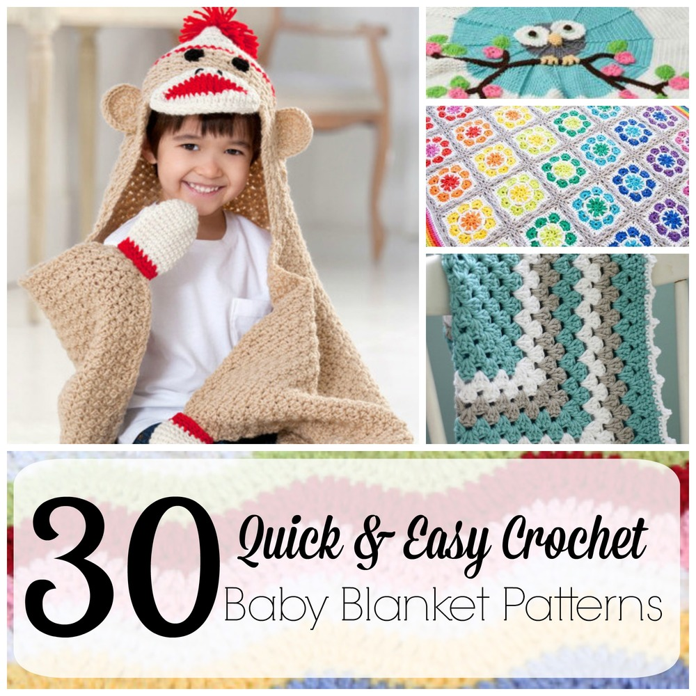 30+ Quick and Easy Crochet Baby Blanket Patterns ...