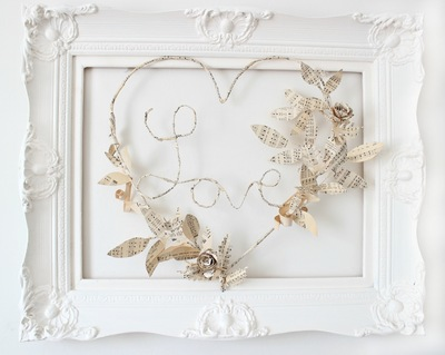 Share a Little Bit of Love Paper Wreath