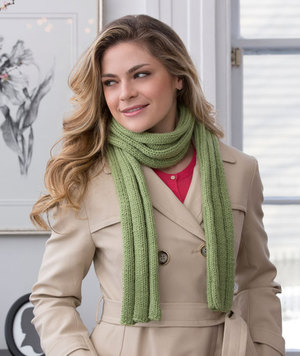Easy Ribbed Woodland Scarf