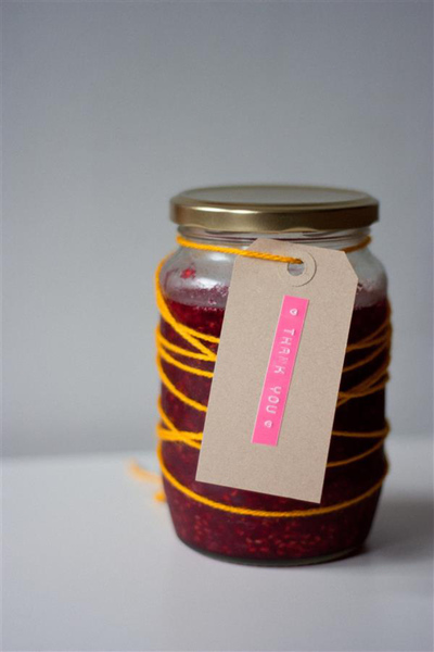 Rustic Homemade Jam Favors