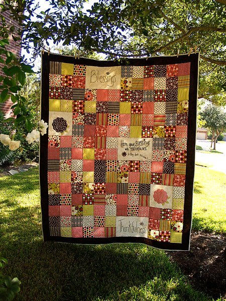 Homemade Blessings Patchwork Quilt | FaveQuilts.com : large patchwork quilt - Adamdwight.com