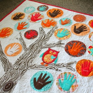 Adorable Applique Family Tree Quilt