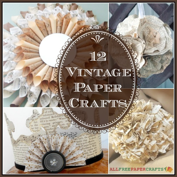 12 vintage takes on diy wall art diy home decor more Home decor crafts with paper