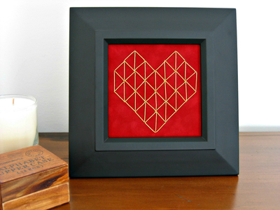 Embroidered Heart Valentine's Day Decor