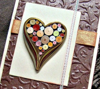 Tight Coils Quilled Heart