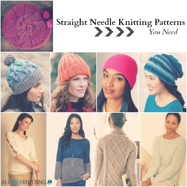 Knitting Pattern Hat Straight Needles Free : 26 Straight Needle Knitting Patterns You Need ...