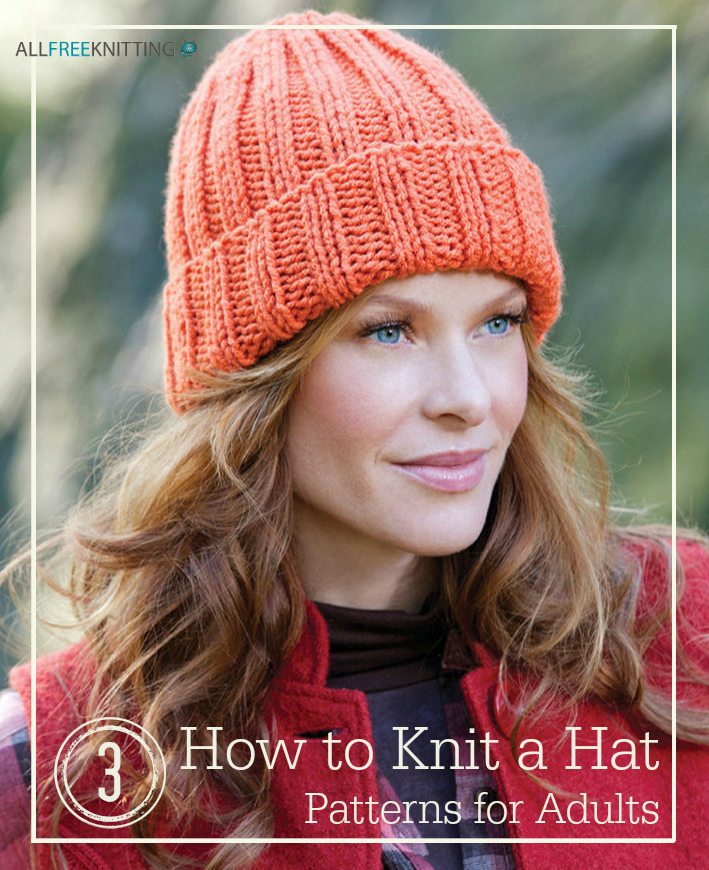 How To Knit A Hat 3 Patterns For Adults Allfreeknitting