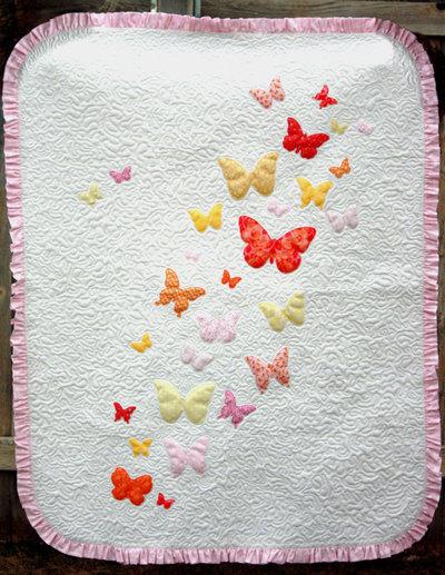 Butterflies A Flutter Baby Quilt Pattern FaveQuilts Beauteous Butterfly Quilt Pattern