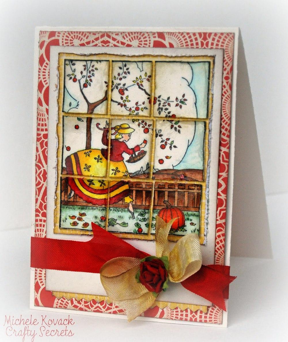 Through the Window Handmade Card | AllFreePaperCrafts.com