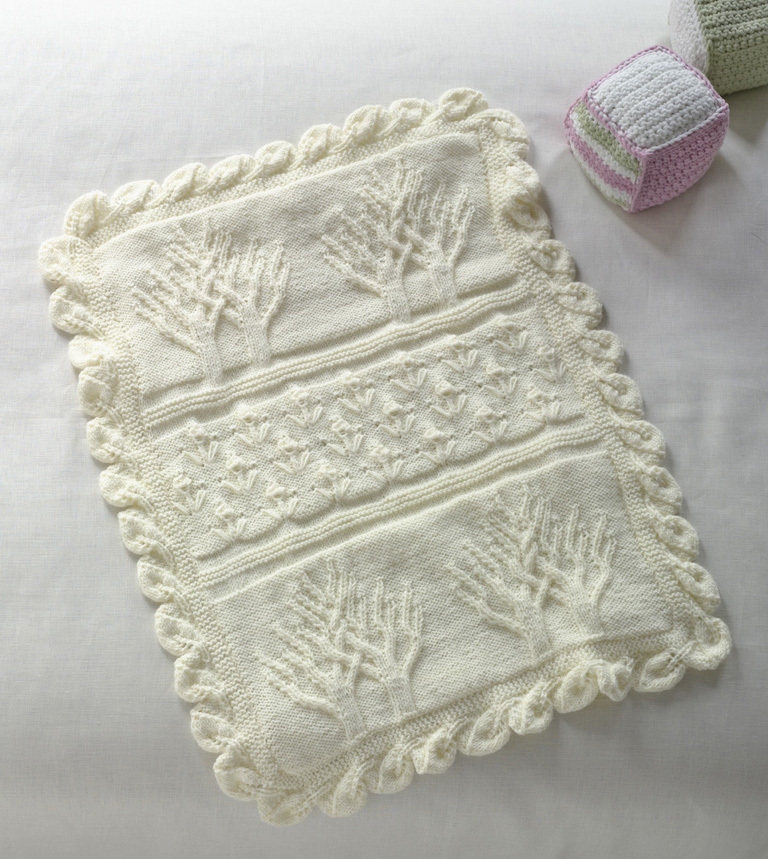 Tree of Life Throw | AllFreeKnitting.com