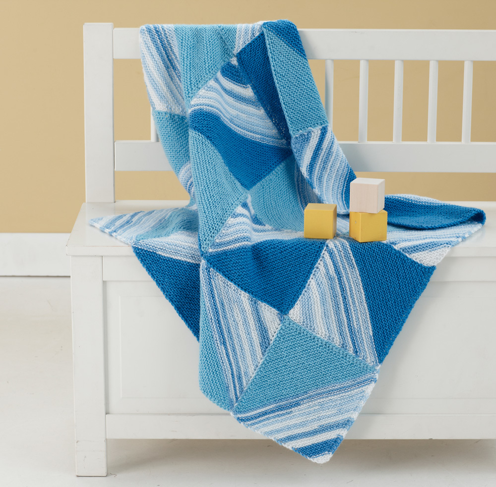 Half Square Triangle Blanket | AllFreeKnitting.com
