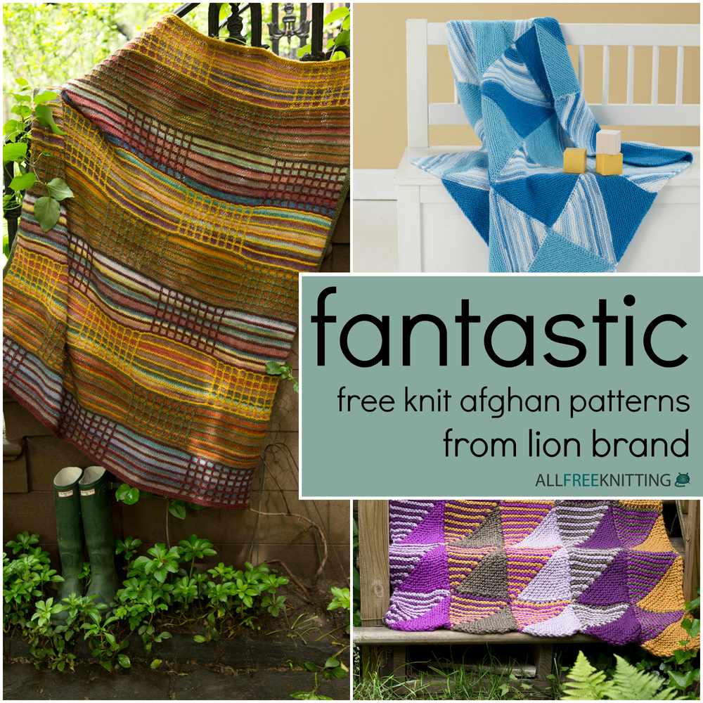 Fantastic Free Knit Afghan Patterns from Lion Brand ...