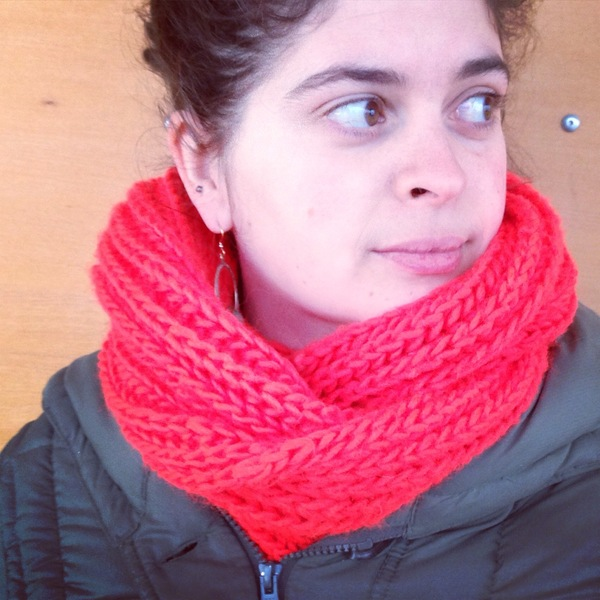 Big, Fluffy Brioche Cowl