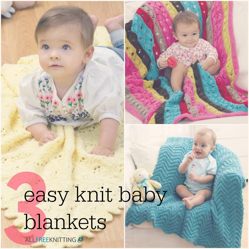 3 Easy Knit Baby Blankets | AllFreeKnitting.com