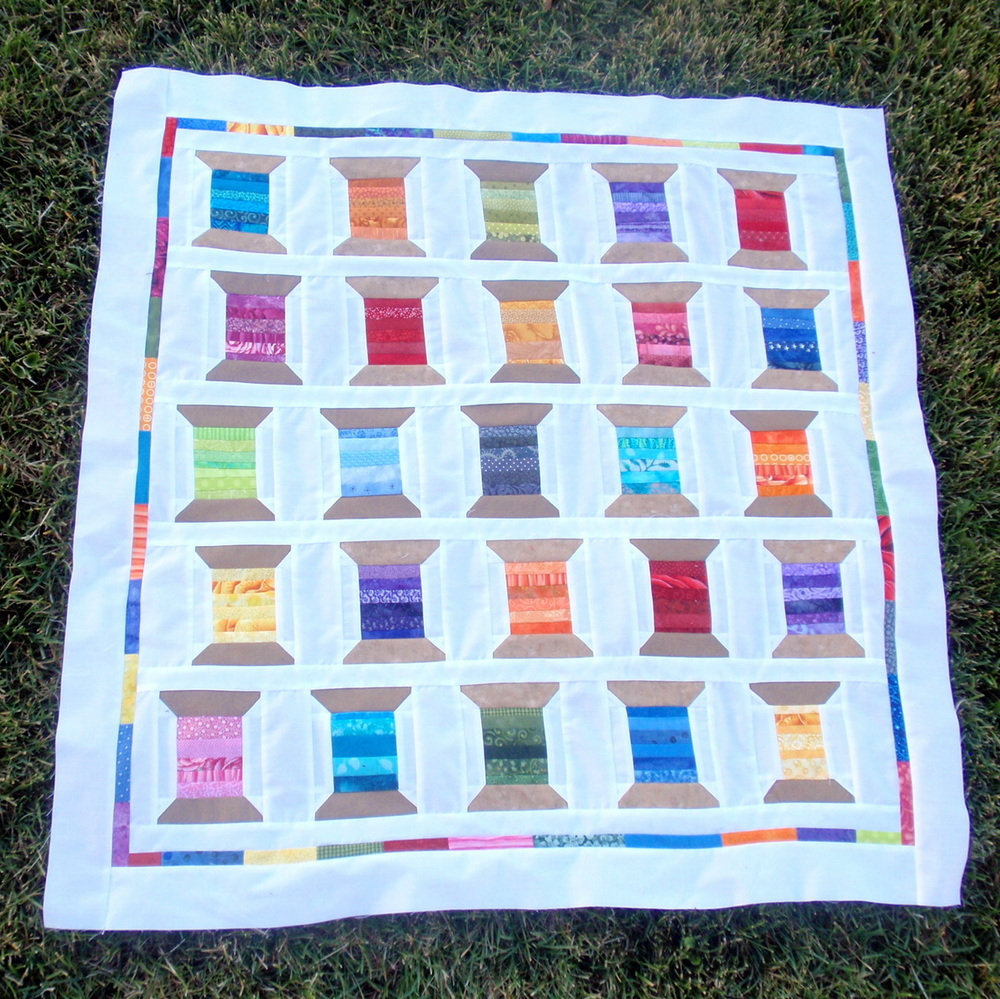 Rainbow Shuffle Spool Quilt Favequilts Com