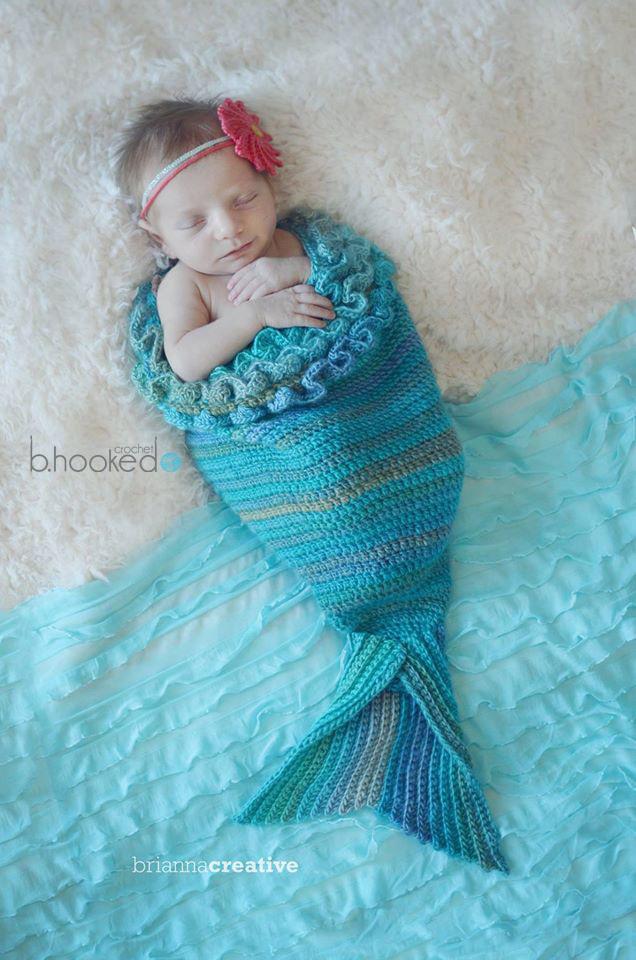 Mystic Mermaid Cocoon Allfreecrochet