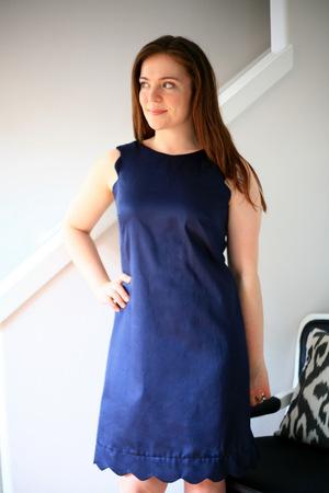 Seriously Sweet Scalloped Dress