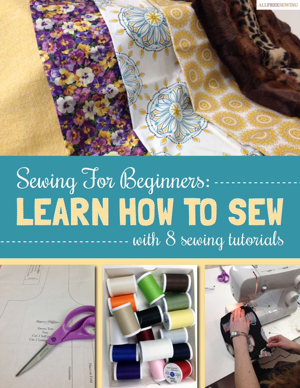 How can you sew a dress yourself. Sewing lessons are free