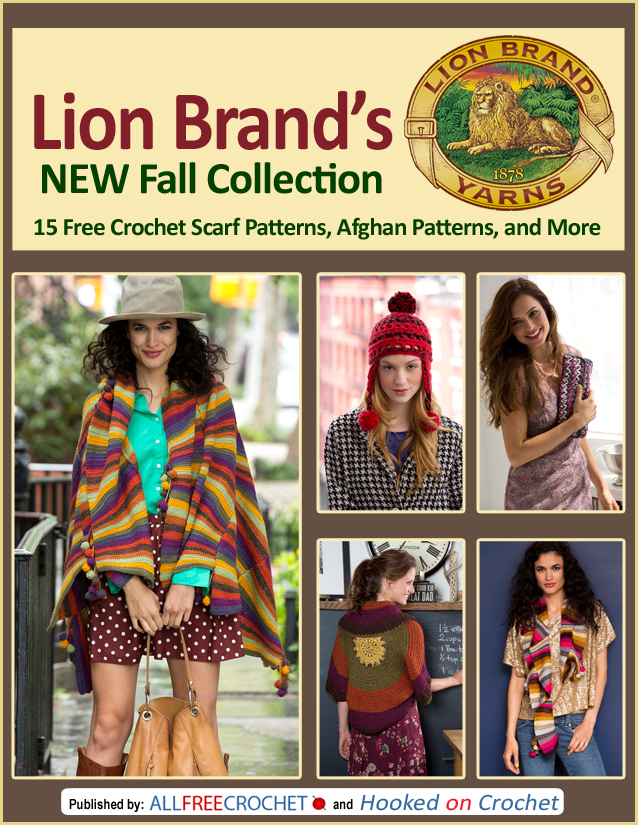Lion Brands New Fall Collection 15 Free Crochet Scarf Patterns