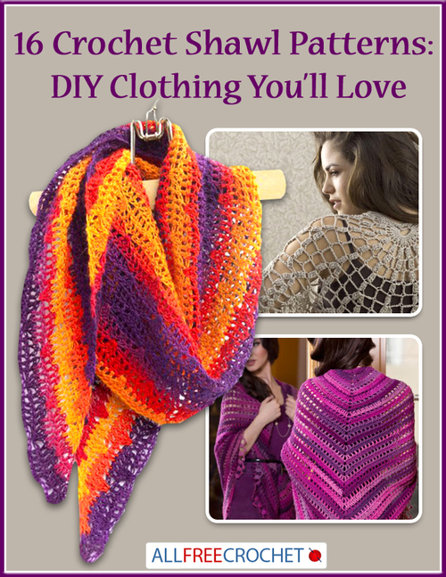 16 Crochet Shawl Patterns: DIY Clothing You\'ll Love | AllFreeCrochet.com