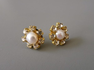 Jeweled Pearl Earrings