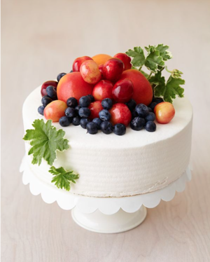 Bountiful Fresh Fruit Cake Decoration