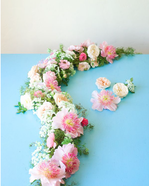 Diy Flower Garland: Perfect Peony And Roses Table Garland