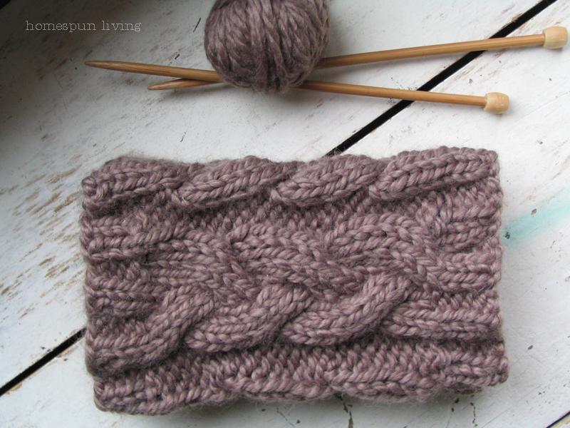 Festive Knitting Patterns : Homespun Cabled Boot Cuffs AllFreeKnitting.com