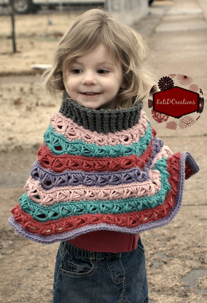 Customizable Broomstick Lace Poncho Allfreecrochet Com