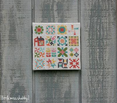 Classic Quilt Block Sampler Cross Stitch | FaveQuilts.com : cross stitch quilt block patterns - Adamdwight.com
