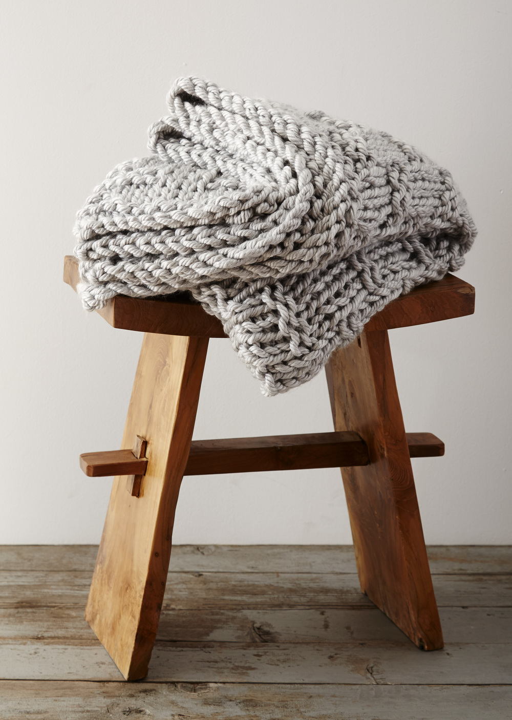 Extra chunky gratitude blanket for How to make a big chunky knit blanket