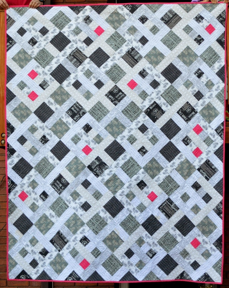 white quilt and black quilts pattern people